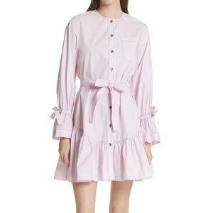 LA VIE Rebecca Taylor Ruffled Poplin Shirtdress